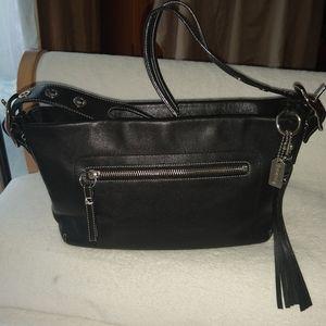 Coach East West duffle tassel leather bag 1417